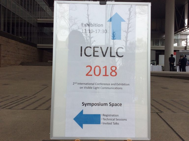 可視光通信の国際会議ICEVLC2018開催
